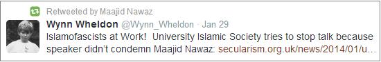 Maajid Nawaz retweets Islamofascists charge