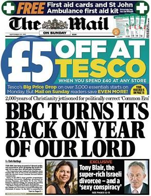 Mail on Sunday BBC abolishes Christian era1