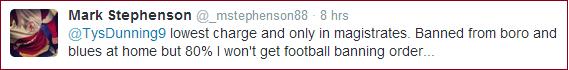 Mark Stephenson tweet