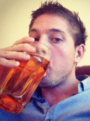 Mark Stephenson with beer