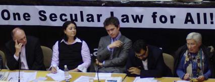 Maryam Namazie with Douglas Murray