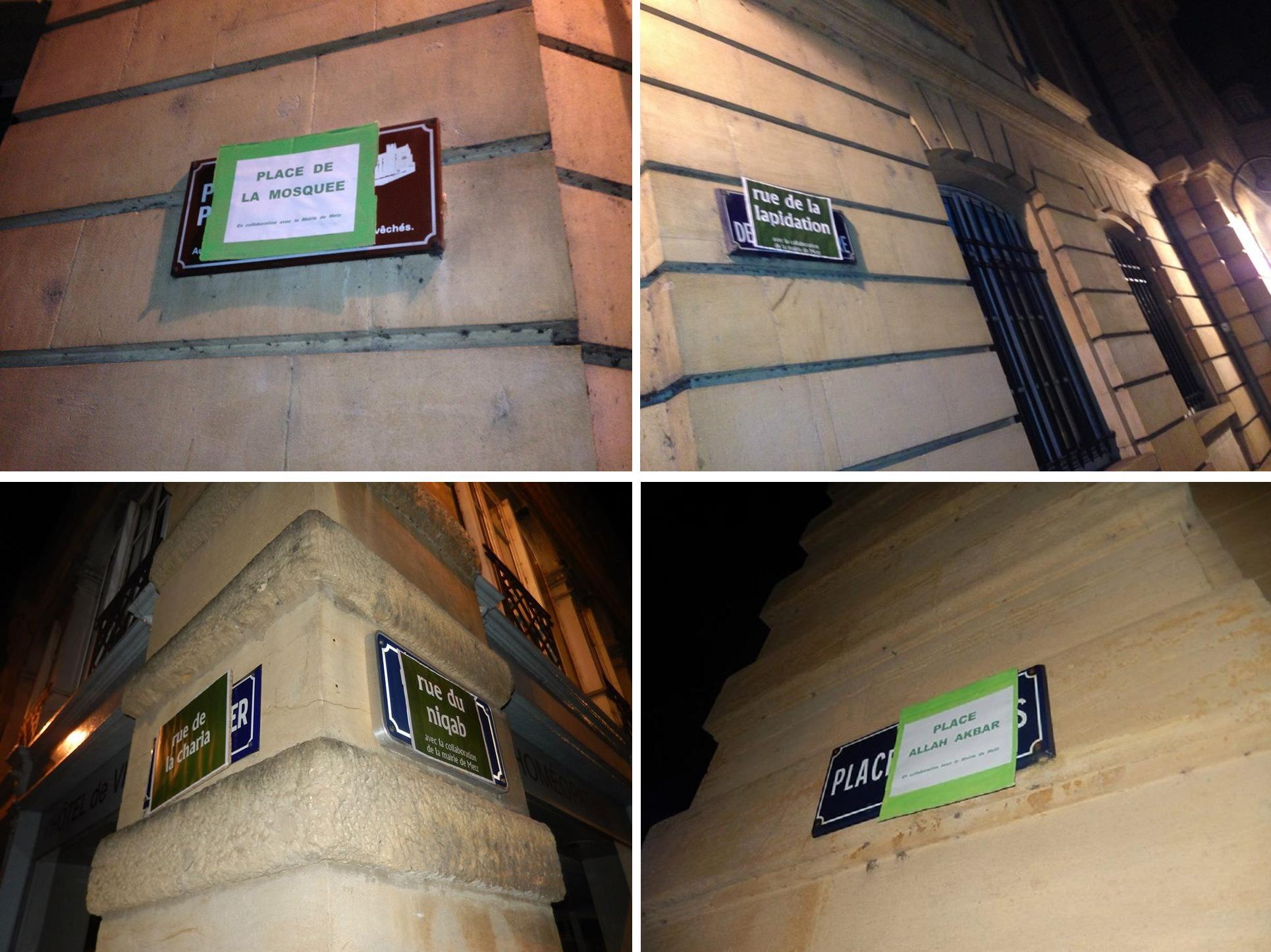 Metz anti-Islam street signs