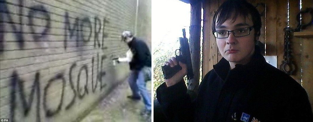 Michael Piggin graffiti and gun
