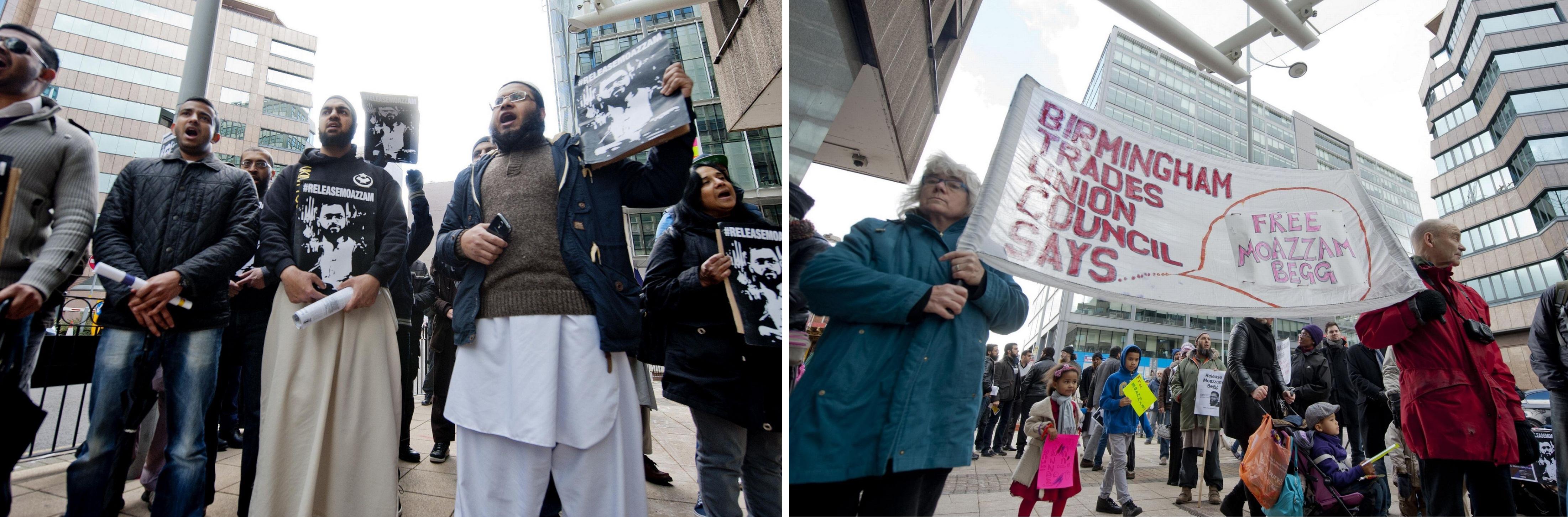 Moazzam Begg protest Birmingham (2)