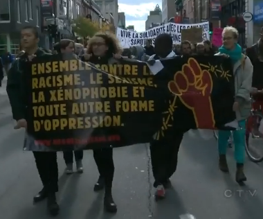 Montreal anti-Charter protest