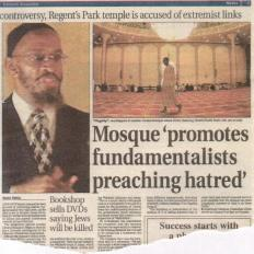 Mosque promotes fundamentalists preaching hatred