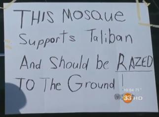 Mosque should be razed to the ground
