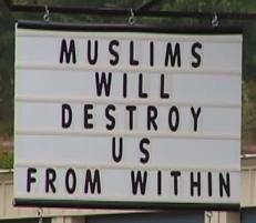 Muslims will destroy us from within