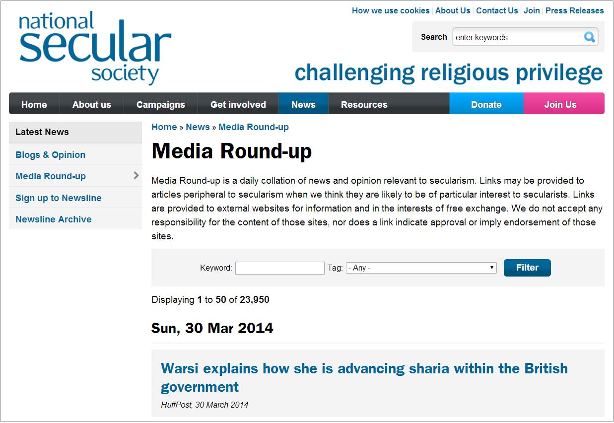 NSS Warsi advancing sharia