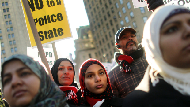 NY protest against police spying