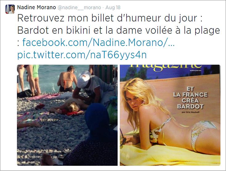 Nadine Morano tweet