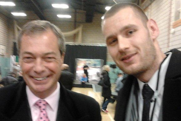 Nigel Farage with Chris Scotton