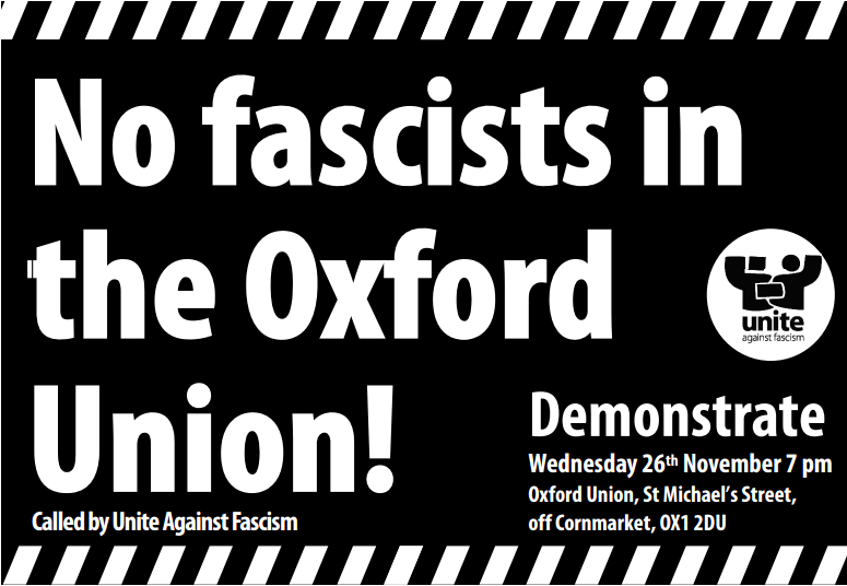 No fascists in the Oxford Union