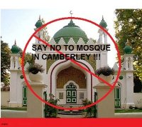 No to mosque in Camberley