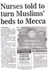 Nurses told to turn Muslims beds