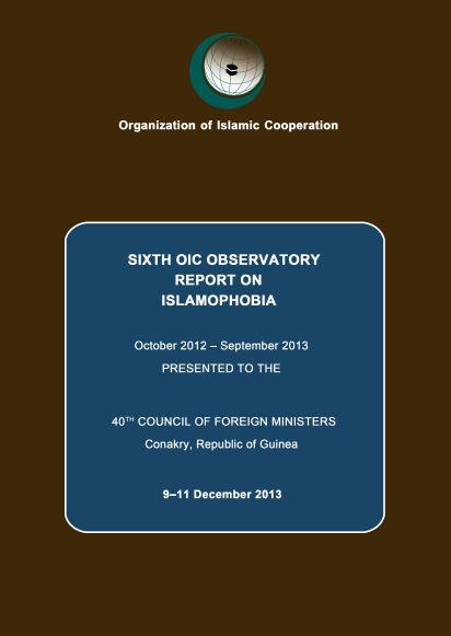 OIC Sixth Annual Report