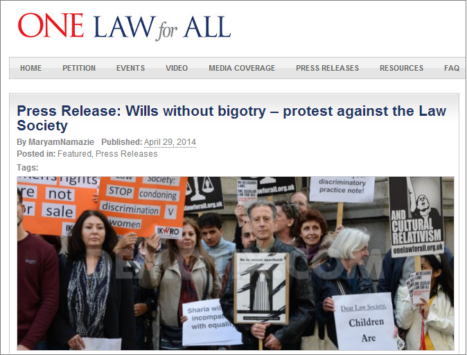 OLFA Law Society protest