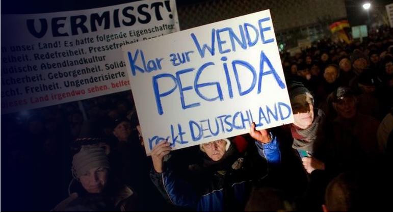 PEGIDA placard