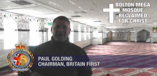 Paul Golding reclaims mosque for Christ