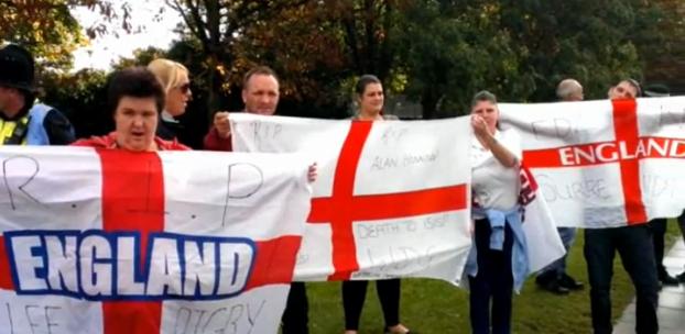 Portsmouth anti-Muslim protestors