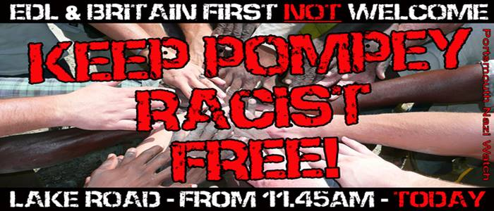Portsmouth anti-racist counter-demonstration