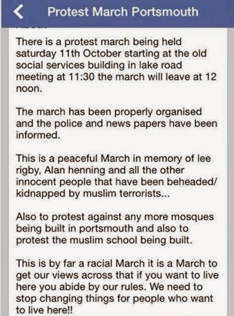Portsmouth protest march