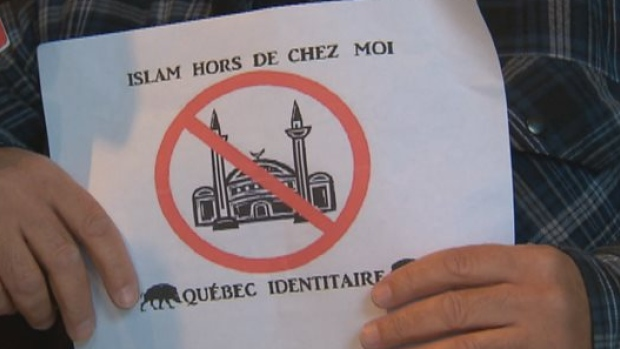 Quebec anti-Islam posters