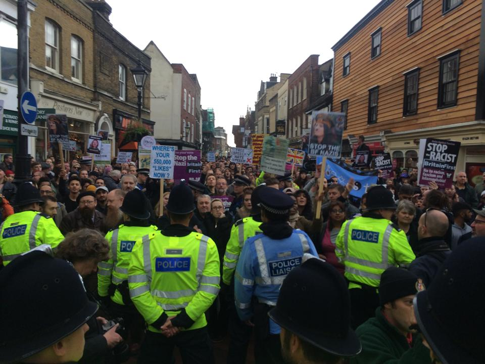 Rochester demonstration against Britain First (2)