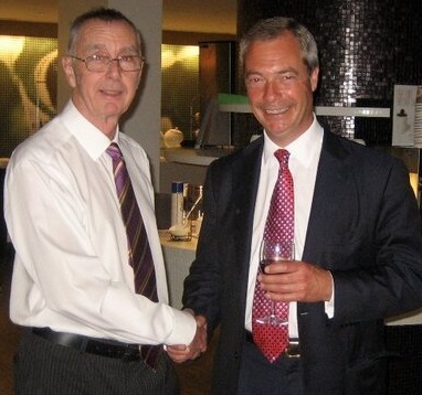Rod Butler and Nigel Farage