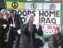 Salma addressing rally