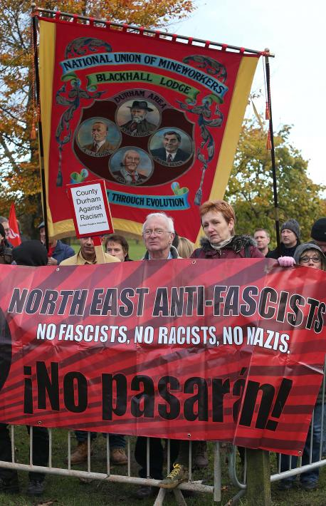 Shotton Colliery anti-EDL protest November 2013