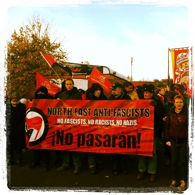 Shotton Colliery anti-EDL protest