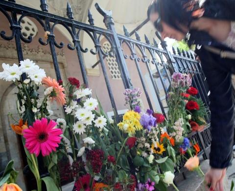 Sofia mosque flowers