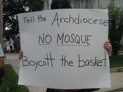 Staten Island protest placard