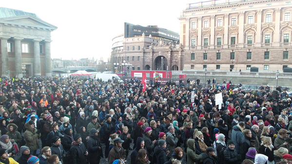 Stockholm demonstration January 2015