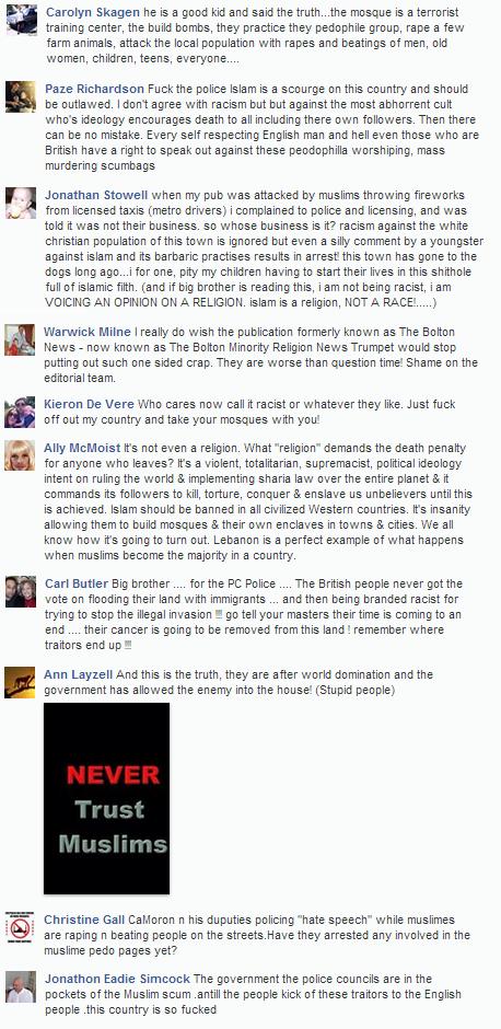 Stop the Astley Bridge Mosque Bolton backing for Leon Richmond