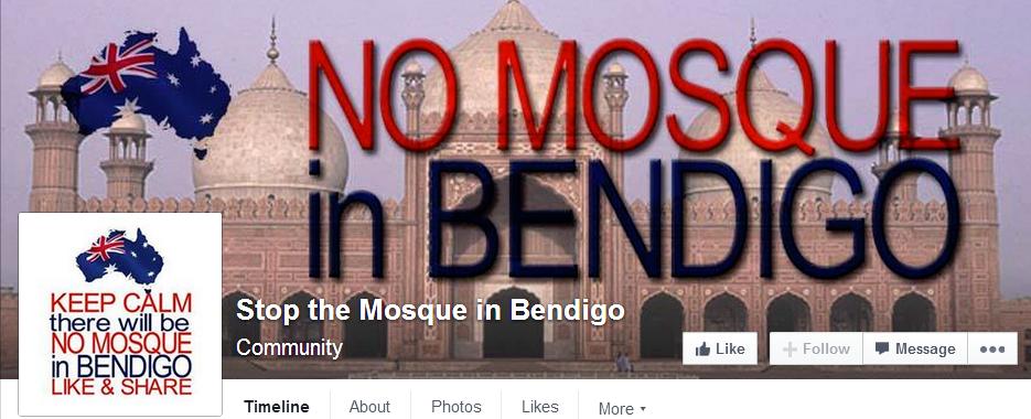 Stop the Mosque in Bendigo