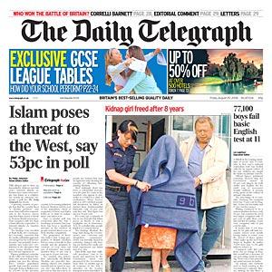 Telegraph Islam threat to west