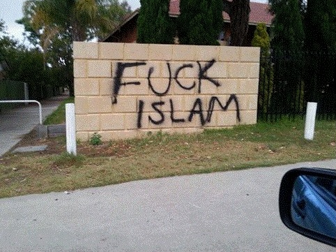 Thornlie mosque Perth graffiti
