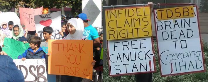 Toronto District School Board demonstrations September 2011