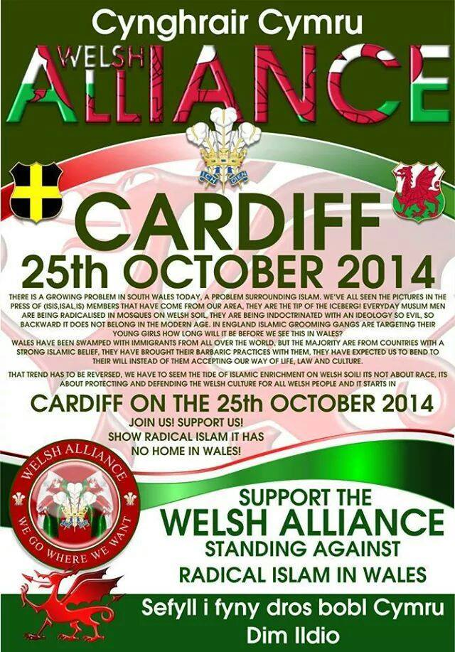 Welsh Alliance Cardiff protest