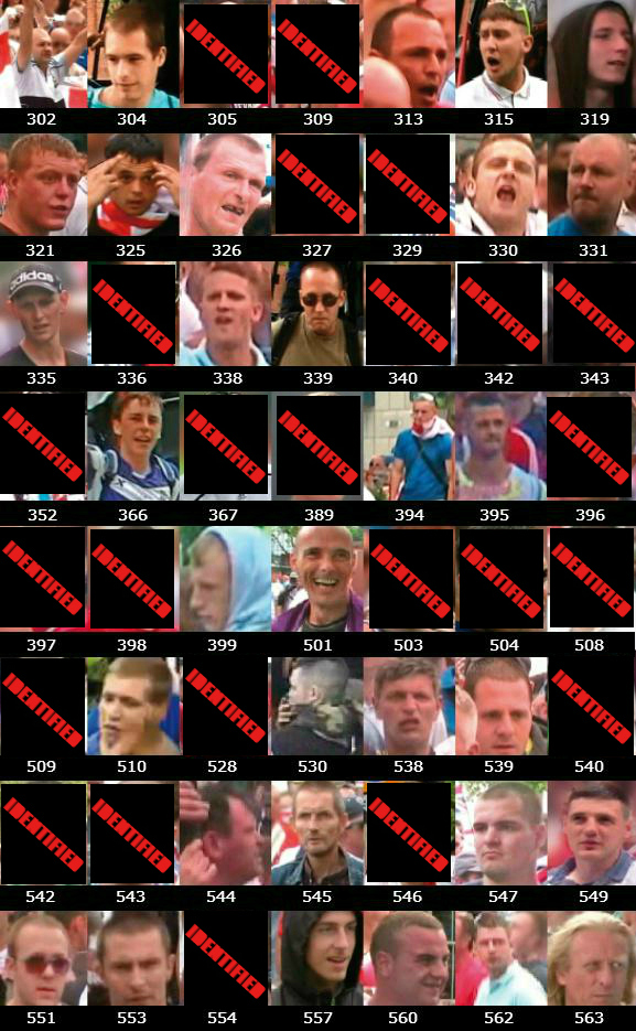 West Midlands Police updated EDL wanted pics