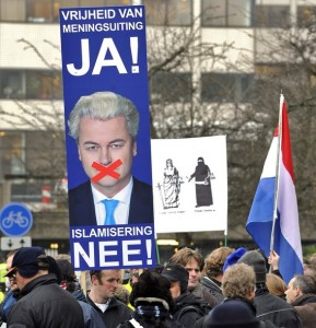 Wilders supporters protest